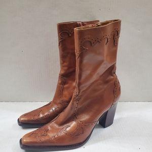 Eddie Bauer Western Heel Boots Size 7